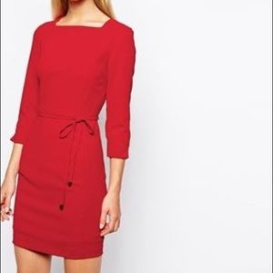 MNG Mango red dress
